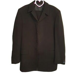 Unbranded Men's 2 Piece Black Suit Size 36 Pant 42 Jacket W06