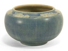 Newcomb College Pottery 1914 floral band vase CL matte blue green Arts & Crafts