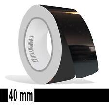 ZIERSTREIFEN - 40mm SCHWARZ glanz 10m  Auto black 40 PinStripe Boot 4 cm Dekor