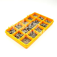 Assortiment de 520 acier inoxydable M3 M5 M6 vis sans tête tasse point hex set socket allen kit