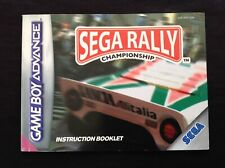 SEGA RALLY CHAMPIONSHIP Nintendo Game Boy Advance GBA *INSTRUCTION BOOKLET ONLY*