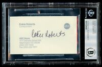 Cokie Roberts signed autograph Business Card ABC News Correspondent BAS Slabbed
