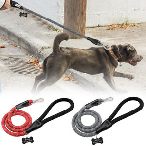 Strong Nylon Dog Walking Lead Leash Clip Safety Reflective 4ft Climbing Rope Red