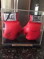 Muhammad Ali George Foreman Autographed Gloves Pair