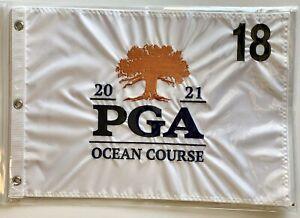 2021 Pga championship flag kiawah island golf white embroidered ocean course new