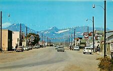 Vintage Chrome Street Scene Postcard; Browning MT Glacier County Unposted
