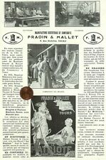 """TOURS (37) BISCUITERIE """" FRADIN & MALLET """" BISCUITS """" LE PATRIOTE """" ADP 1923"""