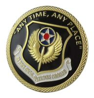US United States Air Force USAF Special Operations Command Gold Plated Coin