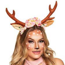 Adult Fawn Fest Reindeer Deer Phone Camera Filter Floral Flower Antler Headband