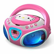 Hello Kitty Kt2025 Cd Boombox With Am/fm Radio & Led Light Show