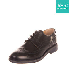 Rrp€195 Tsd12 Leather Derby Shoes Eu 39 Uk 5 Us 6 Brogue Polished Made in Italy