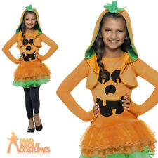 Pumpkin Tutu Dress Costume Children Girls Halloween Fancy Dress Medium Age 7-9 Years