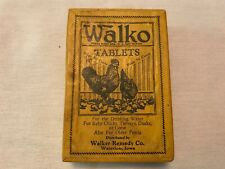 Walko Tablets Vintage Fowl Medicine Box, Walker Remedy, Waterloo, Iowa