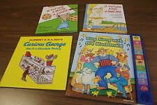 Lot 4 Children's Books Give Mouse Cookie Give Pig Pancake Curious George MacDona