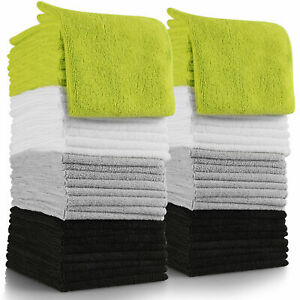 1x 4x 12x 24x Pack Super Soft 100%Egyptian Cotton Face Towels Flannel Wash Cloth