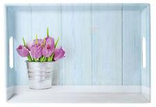 KESPER 77392 Serviertablett Tulpen Hellblau