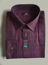 Marks and Spencer Men's Check Cotton Button Cuff Formal Shirts