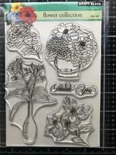 New Penny Black Rubber Stamp set FLOWER COLLECTION clear free USA ship