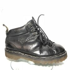 Dr Doc Martens Womens US 7 UK 5 EU 38 Ankle Boots Black Leather England 8287