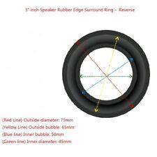 "2x 3"" Inch Reverse Rubber Edge Kit for Subwoofer Speaker Diaphragm Surround Ring"