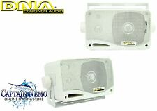 "DNA MARINE SPEAKERS 3"" 3 WAY 60W MARINE BOAT OUTDOOR STEREO BOX SPEAKERS MSB300W"