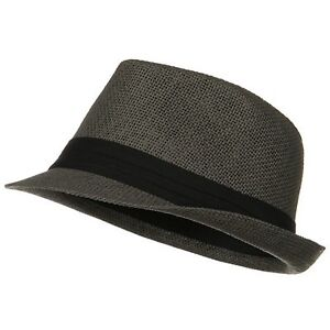 Kid's kid Classic Style Paper Straw Black Band Fashion Fedora Cap Hat 5143K