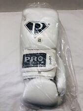 Pro Tech Boxing Gloves Sparring/Bag Gloves Size 14 Oz. White