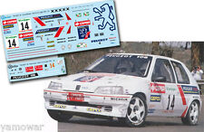 Decal 1:43 Jaime Azcona - PEUGEOT 106 - Rally El Corte Ingles 1995