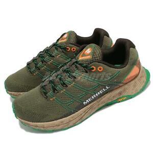 Merrell Moab Flight Lichen Green Orange Men Outdoors Hiking Trail Shoes J066749