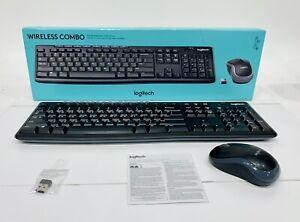 Logitech Wireless Combo Full-Size Keyboard W/ Mouse Complete Set, Black