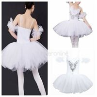 Damen Schwanensee Kostüm Ballet Dance Tanzen Kleid Professionelle Prom Tutu Rock