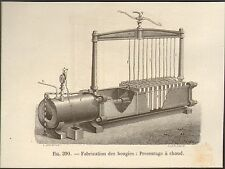 INDUSTRIE INDUSTRY FABRICATION DES BOUGIES IMAGE PRINT 1875
