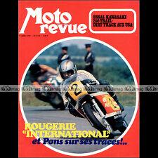 MOTO REVUE N°2135 BOL D'OR ★ KAWASAKI 250 F11 ★ GORI 125 BENOIT GONON CROSS 1973