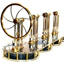 SOLAR FOUR CYLINDER Stirling engine READY BUILT