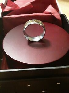 Transformers Autobot Ring Stainless Steel Ring with Gold inlay-Men's Size 9