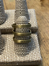 Silpada KR Design Brass Ring 3 Band Size 9