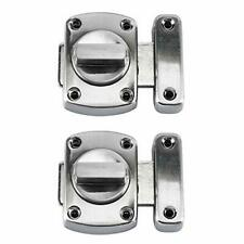 2PCS Rotate Bolt Latch Gate Latches,Zinc Alloy Anti-Theft Safety Door Lock Latch