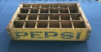 Vintage Wooden Soda Crate Pepsi Cola Wood Dividers  FREE Shipping