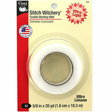 "Dritz Stitch Witchery Fusible Bonding Web-Ultra Light  5/8"" x 20yd #D226"
