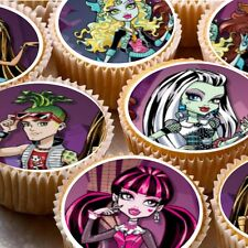 24 Comestible Oblea Arroz Papel cake toppers decorations Monster High