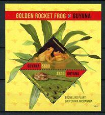 Guyana 2016 Gomma integra, non linguellato GOLDEN Rocket Frog 2v S/S RANE bromeliads piante FRANCOBOLLI