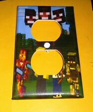 Custom Handmade Minecraft Style One - Electric Outlet Wall Plate