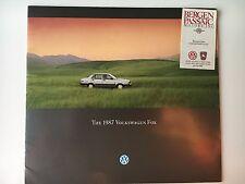 1987 VW Volkswagen Fox Original Sales Brochure