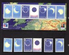 (X149)  Alderney 1999 MNH , Total solar eclipse MNH SET & MINI SHEET