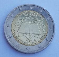 Allemagne 2007 TDR Traité de Rome pièce de 2 euro commémorative neuve atelier A