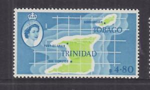 TRINIDAD, 1960 QE, $ 4.80 Map, heavy hinged.