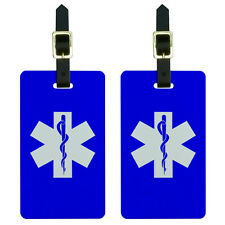Star of Life Luggage Suitcase Carry-On ID Tags Set of 2