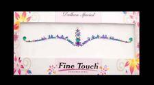 Bindi violet emeraude  bijou de peau  auto adhesif strass pour les yeux -2590