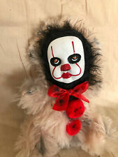 Ooak Pennywise It Clown Teddy Bear #7 Creepy Horror Doll Art Christie Creepydoll