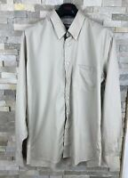 Barbour Mens Size L Regular Fit Beige Long Sleeve Shirt